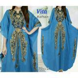 Harga Fashion Flower Dress Wanita Dress Maxi Baju Kaftan Kaftan Bordiran Vita Tosca Yang Bagus