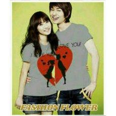 Jual Fashion Flower Baju Couple Kaos Pasangan Kaos Couple Kimono Moon Love Grey Cowok Dan Cewek Di Dki Jakarta