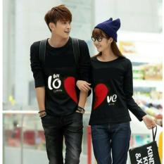 Fashion Flower Baju Couple Kaos Pasangan Kaos Couple Let Love Lp Black Cowok Dan Cewek Fashion Flower Diskon 30