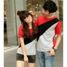 Iklan Fashion Flower Baju Couple Kaos Pasangan Kaos Couple Slash Tiga Warna Cowok Dan Cewek