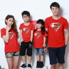 Beli Fashion Flower Baju Keluarga Family Couple Super Foil 2 Anak Red Ayah Ibu Anak2 Online