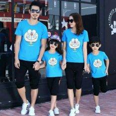 Jual Fashion Flower Baju Keluarga Family Couple Happy Dora 2 Anak Biru Ayah Ibu Anak2 Murah Dki Jakarta