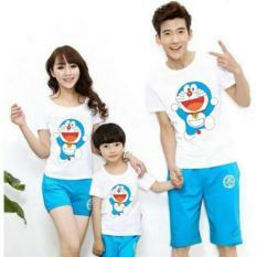 Model Fashion Flower Baju Keluarga Kaos Family Couple Happy Dora Putih Ayah Ibu Anak Terbaru
