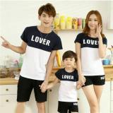 Beli Barang Fashion Flower Baju Keluarga Family Couple Kaos Family Lover 1 Anak White Navy Ayah Ibu Anak Online