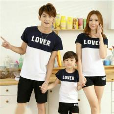 Toko Fashion Flower Baju Keluarga Family Couple Kaos Family Lover 1 Anak White Navy Ayah Ibu Anak Terdekat