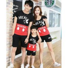 Jual Fashion Flower Baju Keluarga Kaos Family Family Couple Mouse Original 1 Anak Red Black Ayah Ibu Anak Ori