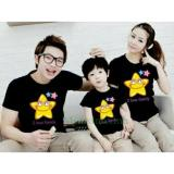 Jual Fashion Flower Baju Keluarga Kaos Family Family Couple Star 1 Anak Black Ayah Ibu Anak Branded Murah