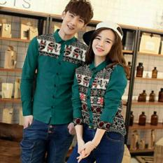 Fashion Flower Kemeja Pasangan Kemeja Couple Elephant Tosca Fashion Flower Diskon 30