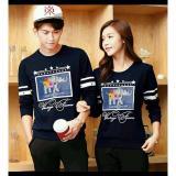 Toko Jual Fashion Flower Sweater Pasangan Couple Classic Frame Lp Navy Cowok Dan Cewek