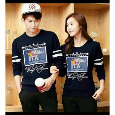 Jual Fashion Flower Sweater Pasangan Couple Classic Frame Lp Navy Cowok Dan Cewek Online Di Dki Jakarta