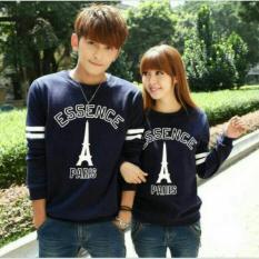 Toko Fashion Flower Sweater Pasangan Couple Essence Paris Lp Navy Cowok Dan Cewek Dki Jakarta
