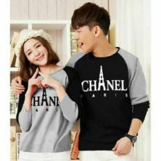 Spesifikasi Fashion Flower Sweater Pasangan Couple Paris Lp Black Grey Cowok Dan Cewek Terbaru