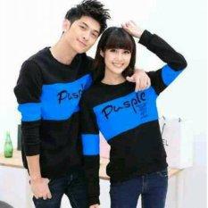 Toko Fashion Flower Sweater Pasangan Couple Pusple Lp Black Turkis Cowok Dan Cewek Fashion Flower