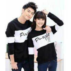 Beli Fashion Flower Sweater Pasangan Couple Pusple Lp Black White Cowok Dan Cewek Dki Jakarta