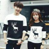 Harga Fashion Flower Sweater Pasangan Couple Moose Lp Black White Cowok Dan Cewek New