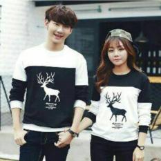 Jual Fashion Flower Sweater Pasangan Couple Moose Lp Black White Cowok Dan Cewek Murah Di Dki Jakarta
