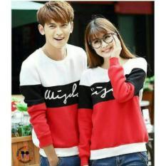 Toko Fashion Flower Sweater Pasangan Couple Wisdom Lp Red White Cowok Dan Cewek Online