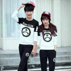 Toko Fashion Flower Sweater Pasangan Couple Yabo Clob Lp Black White Cowok Dan Cewek Yang Bisa Kredit