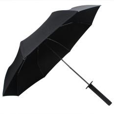 Spesifikasi Fashion Folding Samurai Umbrella Japanese Ninja Dagger Dilipat Pedang Katana Lipat Sun Rain Kreatif Tiga Folding Parasol Paling Bagus