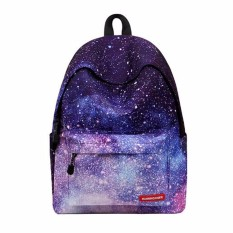 Kualitas Fashion Galaxy Space Bookbag Women Travel Rucksack Sch**l Bag Satchel Backpack Starry Sky Intl Oem