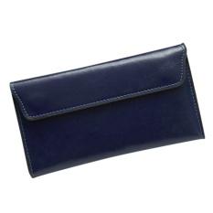 Jual Fashion Kulit Asli Wanita Dompet Cowhide Panjang Tipis Dompet Lady Clutch Bag Dengan Beberapa Kartu Holder Warna Dark Blue Intl Murah Tiongkok