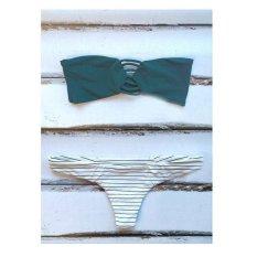 Jual Fashion G*rl Stripe Without Bra And Stainless Steel Green B*k*n* Set Intl Oem Grosir