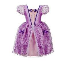 Fashion Gadis Gaun Anak Partai Halloween Gaun Anak Fairy Tale Drama Putri Gaun Umur 2-10 Anak Cosplay Kostum Baju Anak-Ungu Muda-Intl