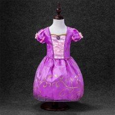 Fashion Gadis Gaun Anak Partai Halloween Gaun Anak Fairy Tale Drama Putri Gaun Anak Cosplay Kostum Baju Anak-Ungu -Intl