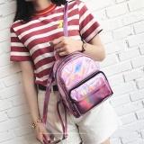 Promo Fashion Gadis Hologram Laser Kulit Tas Sekolah Tote Backpack Satchel Pink Not Specified
