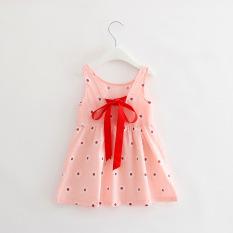 Fashion Gadis Manis Katun Putri Gaun Cherry Bunga Gaun Pink Bunga Oem Diskon 40