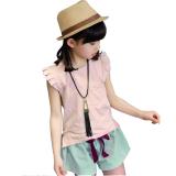 Spek Fashion Gadis Two Piece Suit Summer Baru Anak Pakaian Katun Lengan Pendek Pink Intl Intl Indonesia