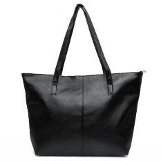 Beli Fashion Handbag Lady Bahan Kulit Pu Wanita Tas Kurir Besar Hitam Intl Lengkap