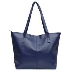 Harga Fashion Handbag Lady Bahan Kulit Pu Wanita Tas Kurir Besar Biru Intl Paling Murah