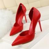Tips Beli Fashion Tinggi Sepatu Bertumit Wanita Pompa Tipis Tumit Menunjuk Toe High Heels Tertutup Toe Wanita Sepatu Pernikahan Wanita Merah Yang Bagus