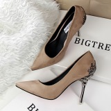 Jual Fashion Tinggi Sepatu Hak Tinggi Runcing Untuk Pernikahan Wanita Sepatu Khaki Oem