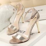 Harga Fashion Tinggi Sepatu Bertumit Wanita Pompa Tipis Tumit Sandal Bertumit Ankle Tali Suede Wanita Sepatu Buka Toe Round Toe High Heels Ladies Pernikahan Sepatu Emas Dan Spesifikasinya