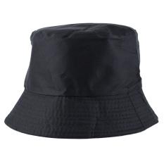 Jual Fashion Hiking Fishing Cotton Blended Sun Protection Black Hat Cap Untuk Unisex Original