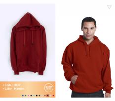Harga Fashion Hoodie Pullover Maroon Merk Fashion