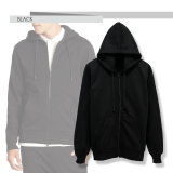 Toko Fashion Hoodie With Zippper Hitam Online Di Indonesia
