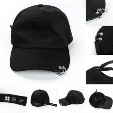 Fashion Iron Ring Punk Hats Adjustable Baseball Cap - intl