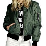 Jual Fashion Jaket Bomber Wanita Hijau Army Keren Branded Murah