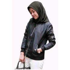 Harga Fashion Jaket Bomber Wanita Hitam Online