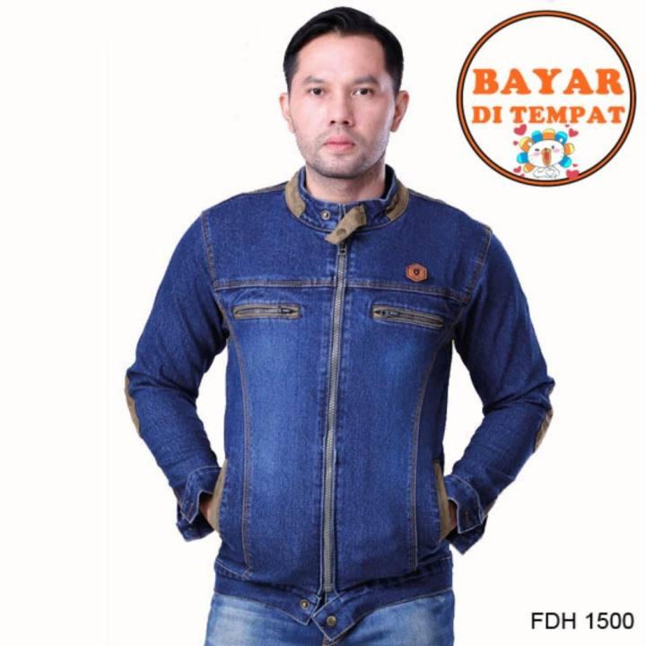 Fashion Jaket Denim Pria Style Terbaru Jauh Lebih Modis Dan Keren Fdh 1500  - Biru 38a1b2c94e