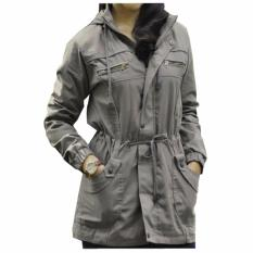 Beli Fashion Jaket Parka Wanita Abu Fashion