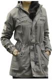 Jual Fashion Jaket Parka Wanita Topi Lepas Abu Fashion Online