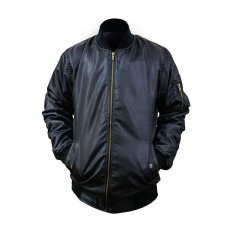 Toko Fashion Jaket Pilot Bomber Waterproof Black Termurah