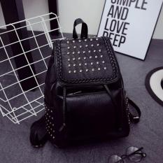Fashion korean backpack - Tas wanita import ransel - Hitam