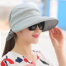 Toko Fashion Wanita Gaya Korea Musim Panas Sun Hat Anti Sinar Uv Pelindung Pantai Pinggiran Lebar His Hat Wanita Abu Abu Internasional Murah Di Tiongkok