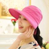 Toko Fashion Wanita Gaya Korea Musim Panas Sun Hat Anti Sinar Uv Pelindung Pantai Pinggiran Lebar His Hat Wanita Mawar Internasional Termurah