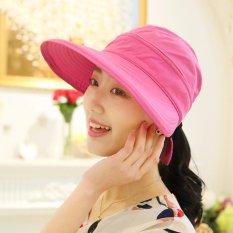 Toko Fashion Wanita Gaya Korea Musim Panas Sun Hat Anti Sinar Uv Pelindung Pantai Pinggiran Lebar His Hat Wanita Mawar Internasional Oem Online
